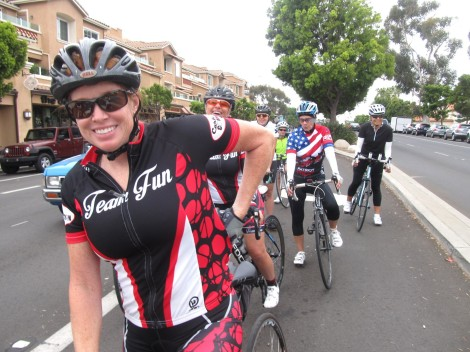 "The groups depart.  Jill says, ""Don't forget to turn your Strava on!"""