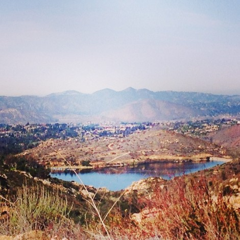 View on Lake Poway from above
