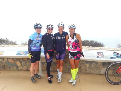 Suzanne, Lauren, Heather and Tina at Cabrillo