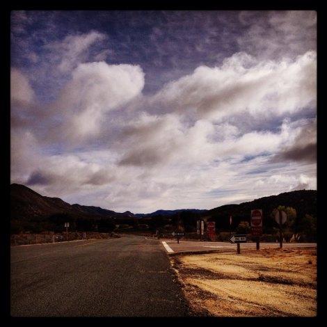 The start of Kitchen Creek road.