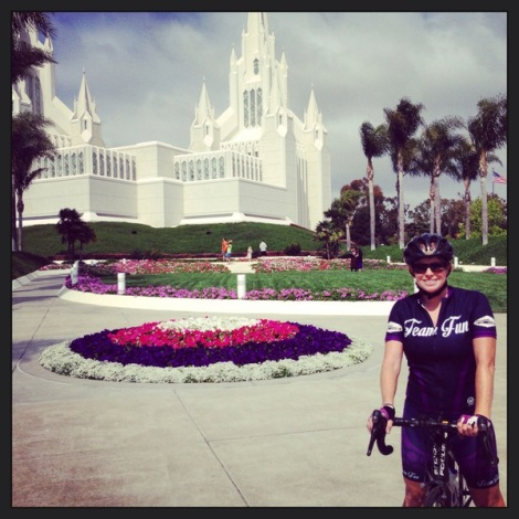 Jill at the LDS Temple