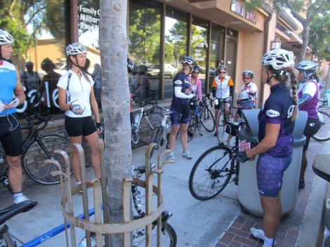 Reviewing the course pre-ride
