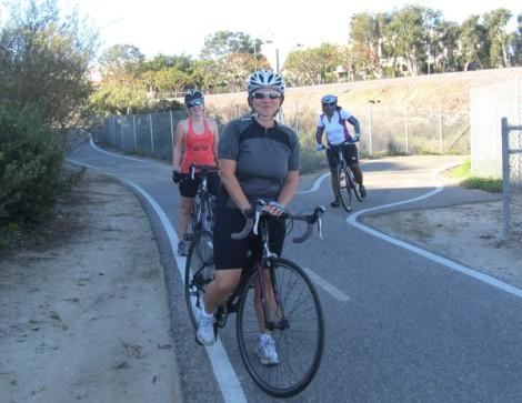 Ellie, Sian & Tammy on SLRR Trail (near west terminus).