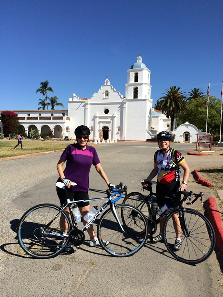 Cele and Suzanne at Mission San Luis Rey.