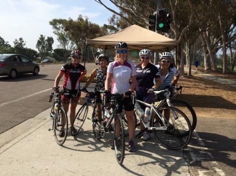 Team Fun C Group at Torrey Pines - Julie, Robin, Sian, Kim Z & Karen