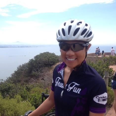 Kim smiling following a Tide Pool climb