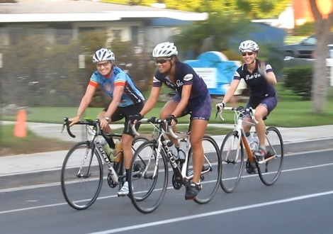 Heather K, Kim N & Lauren K lifting off from Carlsbad.