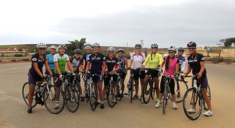 Happy Team Fun-sters preparing to glide out from Torrey Pines Gliderport.