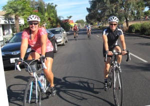C group on the sharrow lane through Leucadia.
