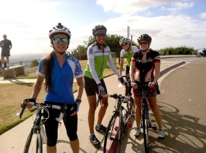 Janice & Ariel caught up with Heather K & Jill at the Mt Soledad cross.