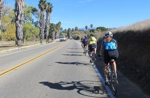 Heading east on Camino Del Rey.