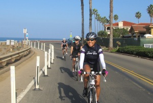 Still smiling our way along Sunset Cliffs Blvd.