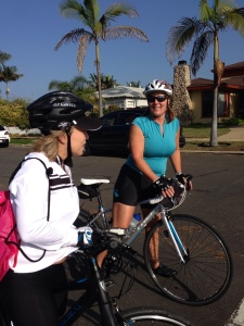 Miki & Laura thought Pt Loma seems to have shrunk a bit since their last ride.