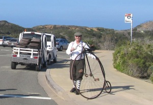 Penny-farthing at Cabrillo!