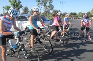 Pre-ride briefing at Santee Towne Center.