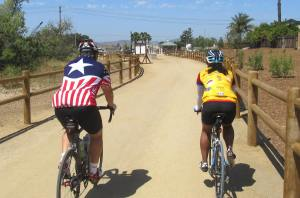 The new section of San Diego River Trail in Santee is quite a nice ride even for road bikes!
