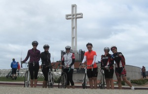 B/C group at Veterans Memorial Cross.