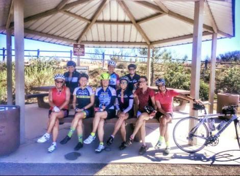 Front: Joann, Shannon, Chin, Janice, Judy, Vivienne. Back: Diane, Heather, Jill ... at Double Peak Park