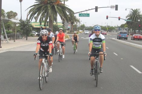 Group B at the start in Solana Beach