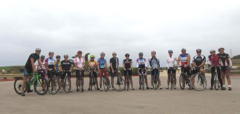 Large group gathered at Torrey Pines Gliderport