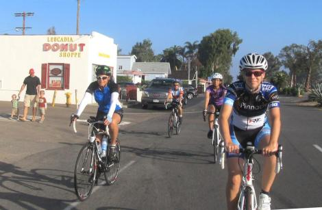 Michell managed to capture both the C group and her later stop, the Leucadia Donut Shop.
