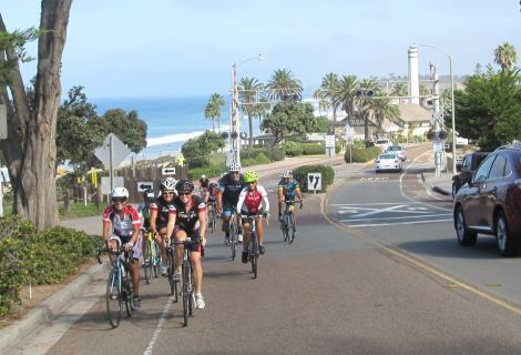 Heading uphill into Del Mar