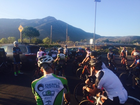 Listening to the pre-ride briefing
