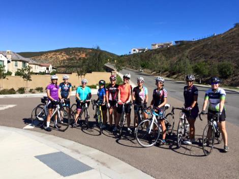 B group on Double Peak Road:  Sarah, Jill Q, Kim, Miki, Julie, Brielle, Debra, Tatiana, Denise and Suzanne.