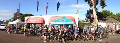 Nytro was an excellent host for the ride this morning, offering both coffee and bagels, and plenty of space to gather.